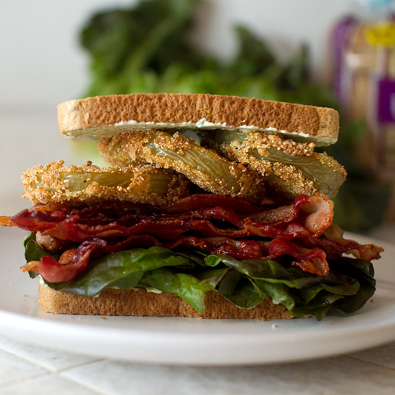 Fried Green Tomato BLT - FMITK: From My Impossibly Tiny ...