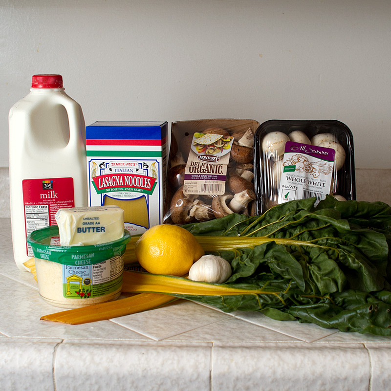 swiss chard, mushroom and lemon lasagna on FMITK